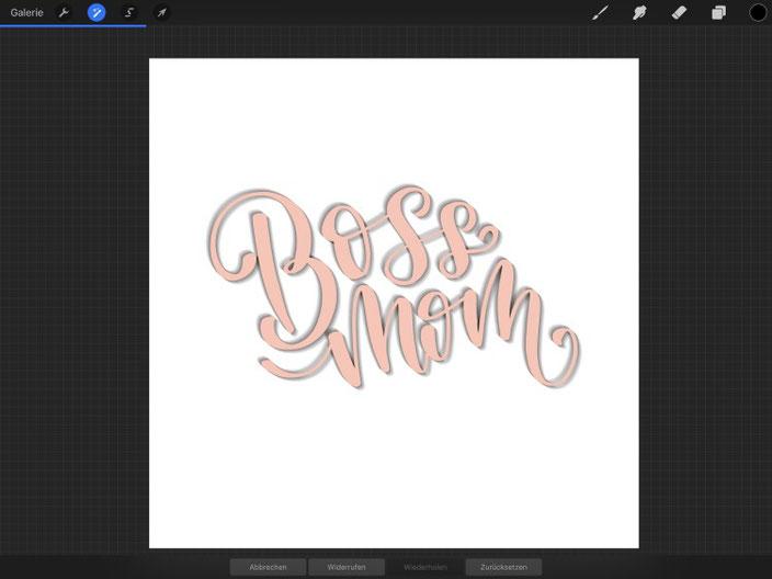 einfaches 3D Lettering mit Procreate - Schritt für Schritt Tutorial