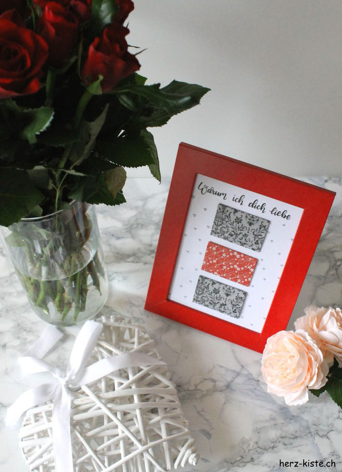 Warum ich dich liebe - ein Herz-Brief zum Valentinstag als Geschenk - einfache DIY Idee zum selbermachen