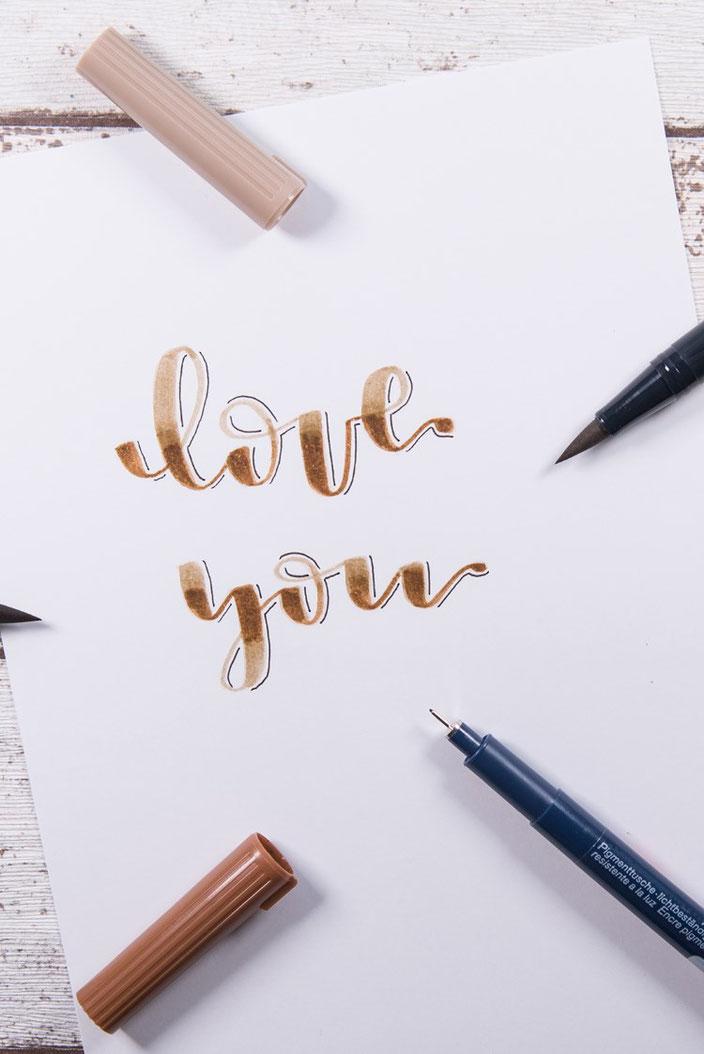Anleitung: Wie du ganz einfach dein Brushlettering verblenden kannst