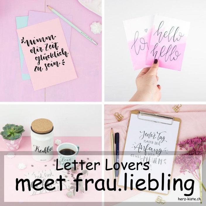 Letter Lovers - frau.liebling zu Gast im Lettering Interview mit einer Anleitung wie du deine Lettering Sprüche gekonnt und bewusst schön gestaltest.