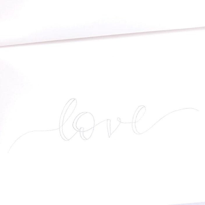 Anleitung für ein Ribbon Lettering - Schritt 2: Faux Calligraphy ergänzen