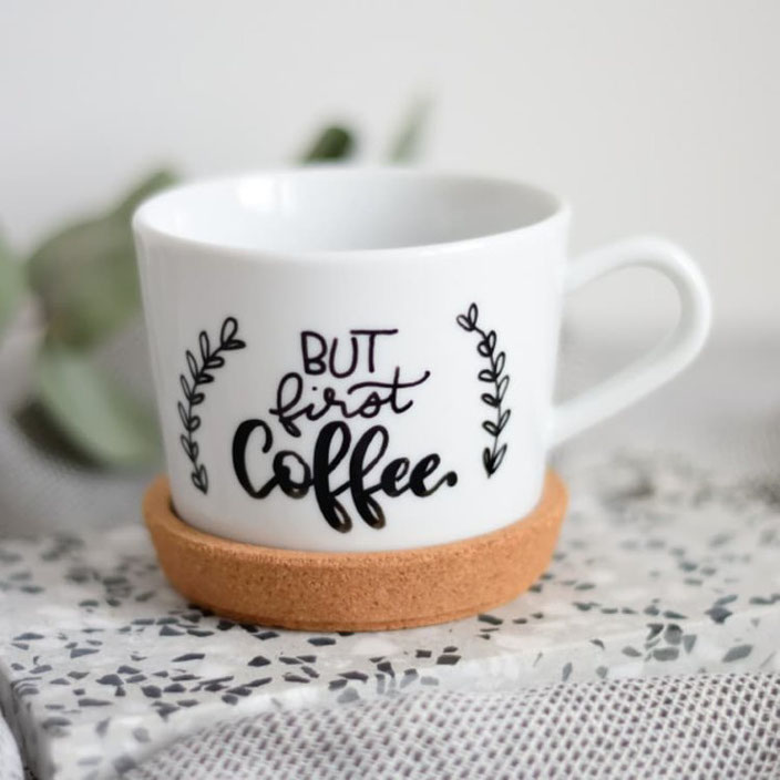 but first coffee - Handlettering von belettert.at für die Letter Lovers