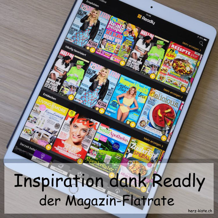 Inspiration dank Readly - dem Magazin Flatrate