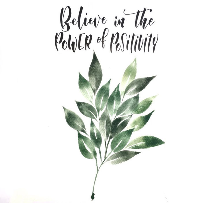 Handlettering: Believe in the Power of Positivity (Lettering von madi_yellow_freak )