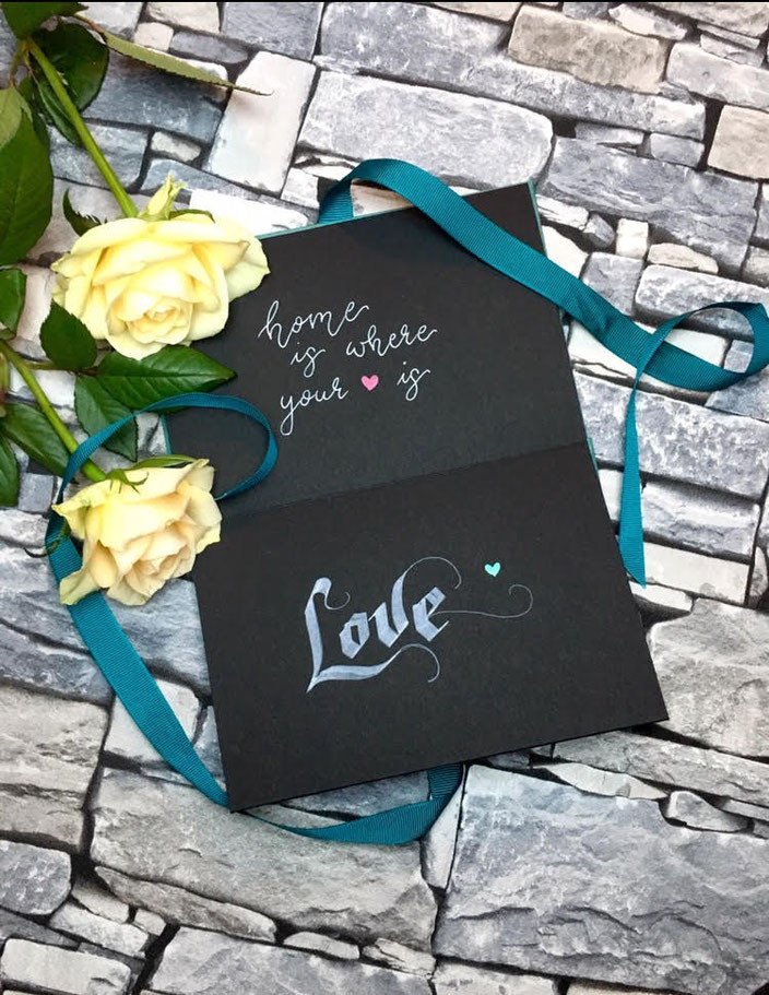Love - Handlettering: home is where your heart is (Lettering von chrischography bei den Letter Lovers)