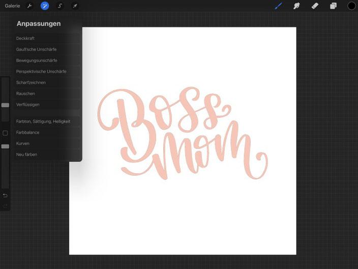 digitales 3D-Lettering: Schritt für Schritt Anleitung für das Lettering Boss Mom