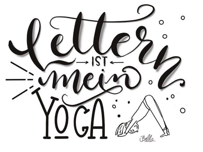 Lettern ist mein Yoga - Handlettering von bellalettern bei den Letter Lovers