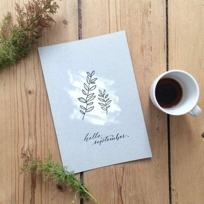 hallo September - Handlettering von clrslzmn bei den Letter Lovers
