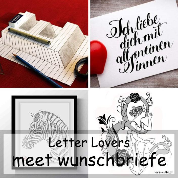 Letter Lovers - wunschbriefe zu Gast im Lettering Interview mit einer Anleitung für optische Illusionen zum lettern