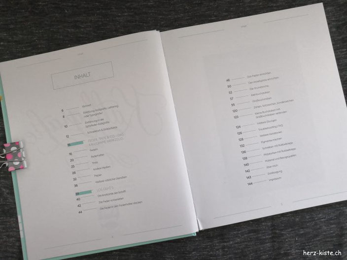 Buchvorstellung - moderne Kalligrafie von A bis Z - der Inhalt des Buches