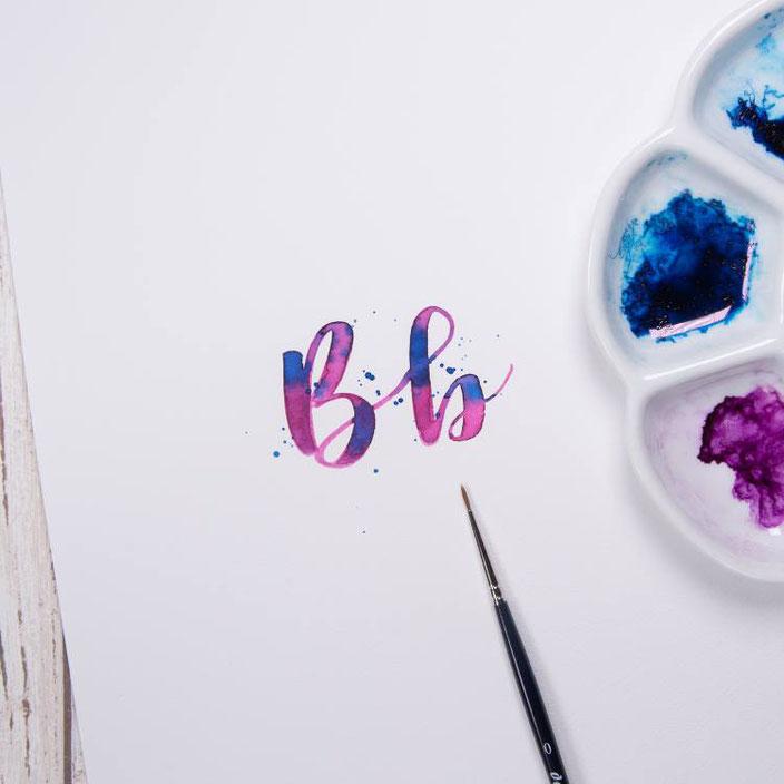 Brushlettering Buchstabe B - jane_carrot für die Letter Lovers