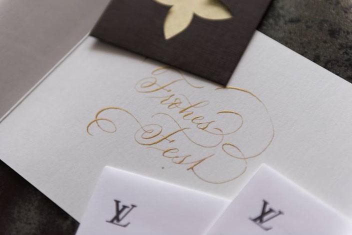 Kalligraphie in Gold - Frohes Fest (Tintenfuchs für die Letter Lovers)