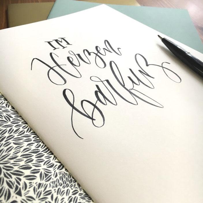 Im Herzen barfuss. Ein Lettering von sonja.theresia für die Letter Lovers
