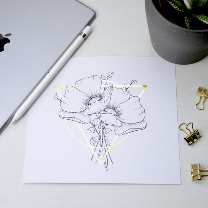Lettering und Zeichnungen digitalisieren - eine Anleitung