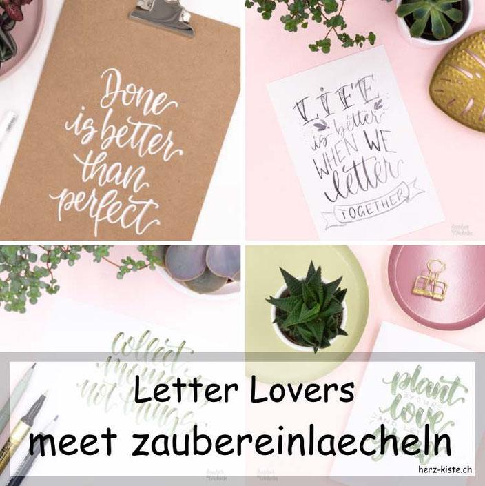 Letter Lovers: zaubereinlaecheln zu Gast im Lettering Interview mit einer DIY Anleitung um ein Klemmbrett zu belettern