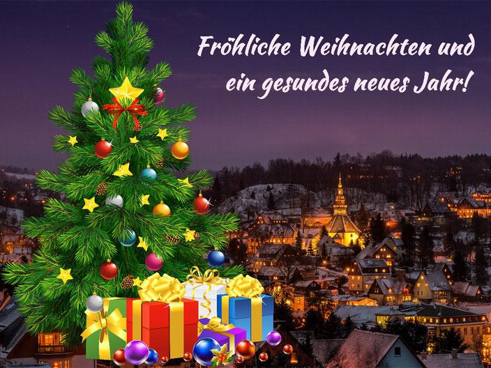 Fröhliche Weihnachten und ein gesundes neues Jahr!