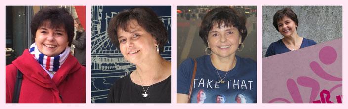 Julia während ihrer Anschlusstherapie (Februar, Mai und Juli 2017)