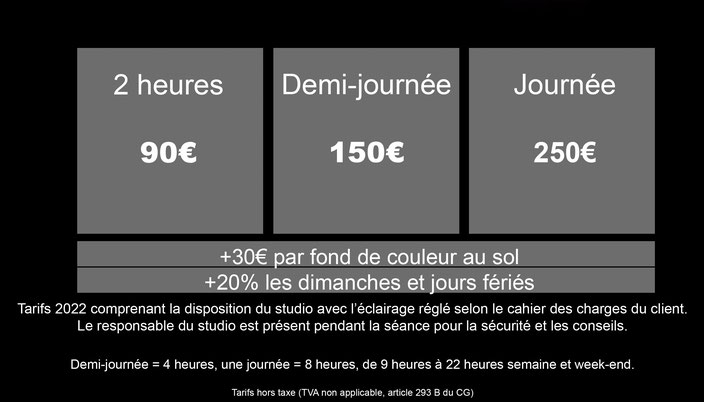 Tarif horaire location studio photo studio de photographie saint-etienne  artstudio5.fr