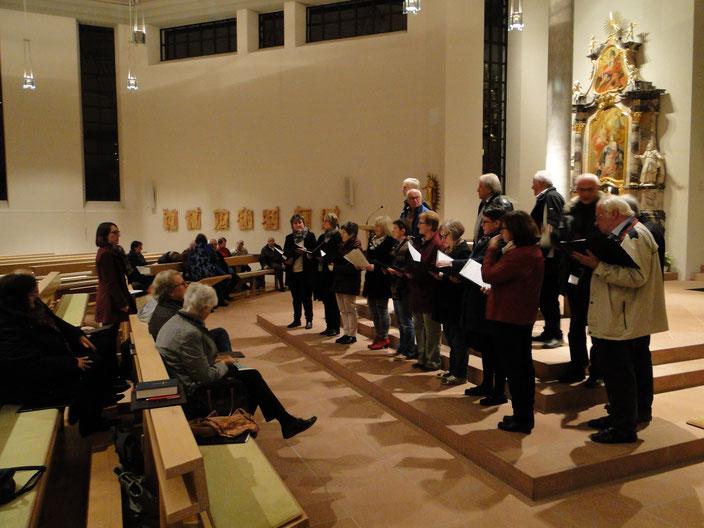 Buß & Bettag  2017  Aufstellung zum Einsingen in St. Blasius Schallstadt