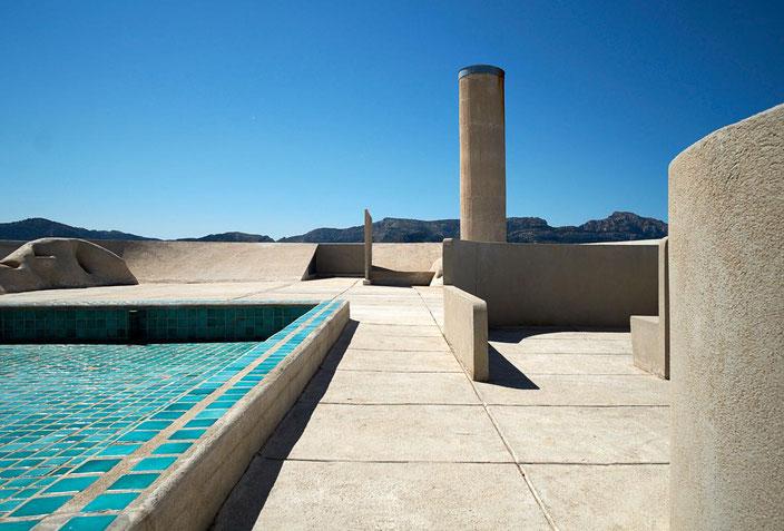 Tetto giardino, Unité d'Habitation de Marseille di Le Corbusier