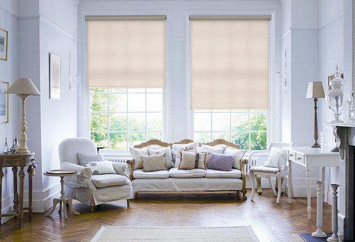Классические рулонные шторы, с тканью Перл