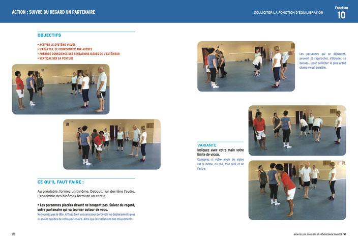 Exemple d'exercice lors d'un atelier équilibre