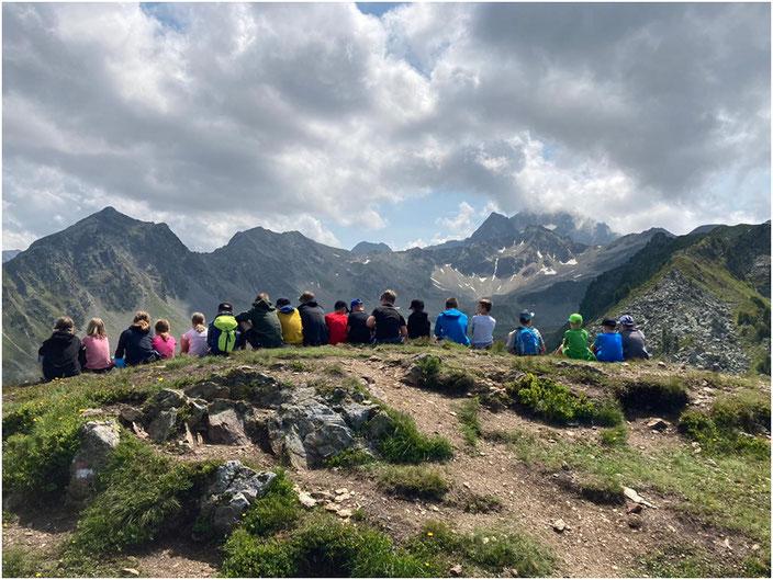 Schöne Aussicht in den Kühtaier Bergen
