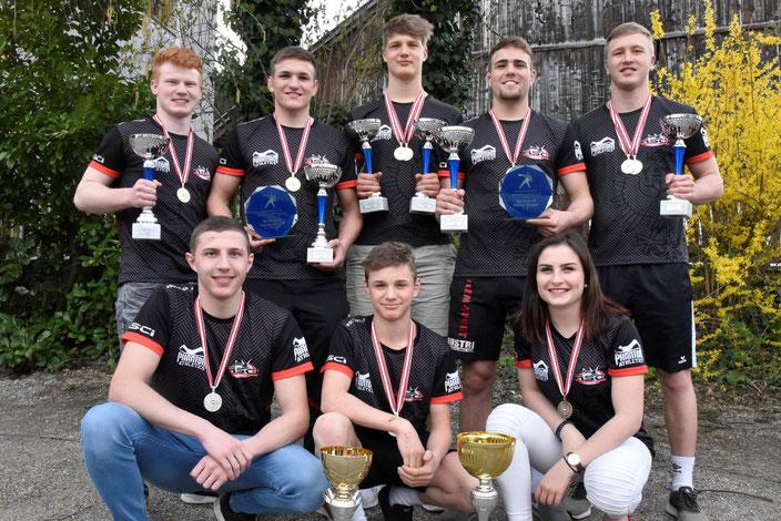 Unser erfolgreiches Team bei den Österr. Juniorenmeisterschaften in Klaus (Vbg.)