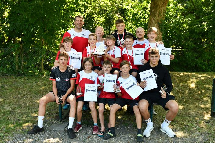Erfolgreiches RSCI-Team mit Wanderpokal
