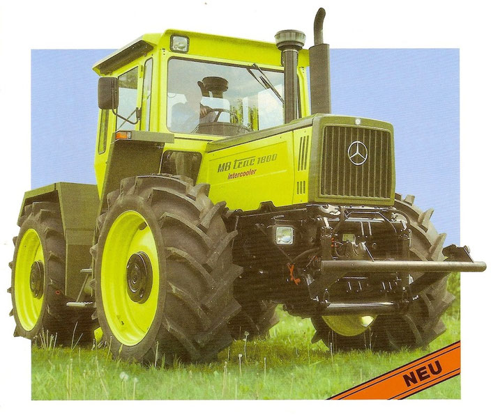 MB trac 1800 Turbo Intercooler