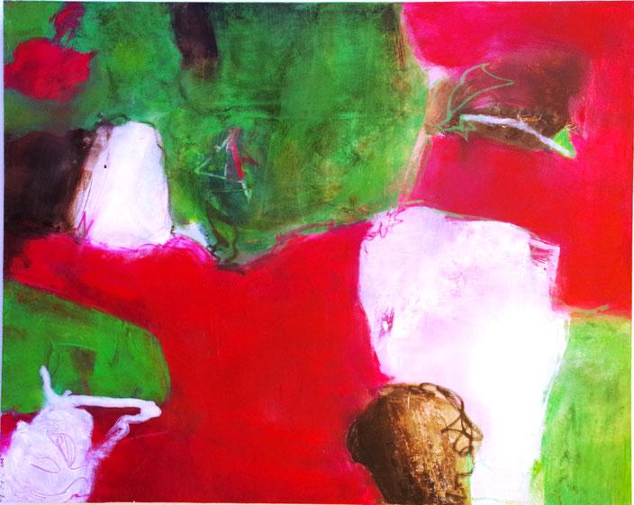 Acrylmalerei mit Pastelkreiden