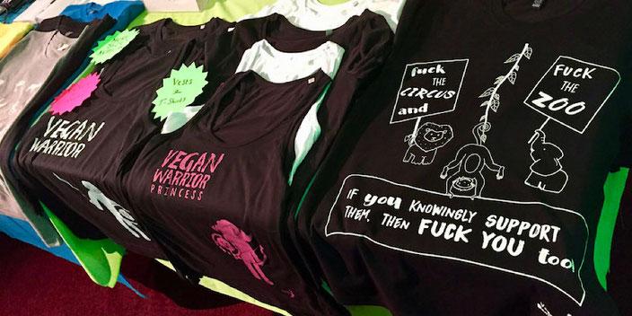 vegan deviant t-shirts leicester vegan festival