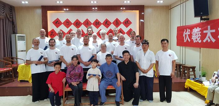 Erste angenommene innere Schüler im Fuxi-Taijidao-System und die Zeugen der TaiChi-Familien