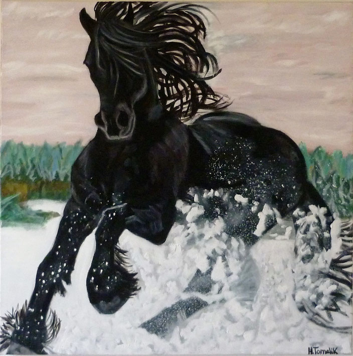 Friesian 2. 100 x 100 cm,oil on canvas