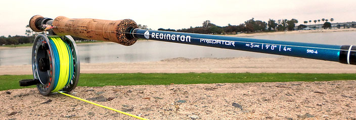 Redington Predator 590-4 great lightweight saltwater fly rod