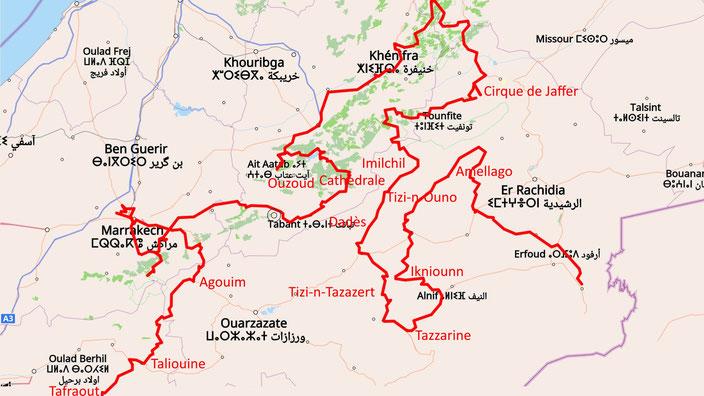 Unsere Atlas-Route