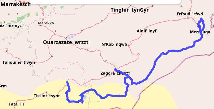 Die Sahara Route