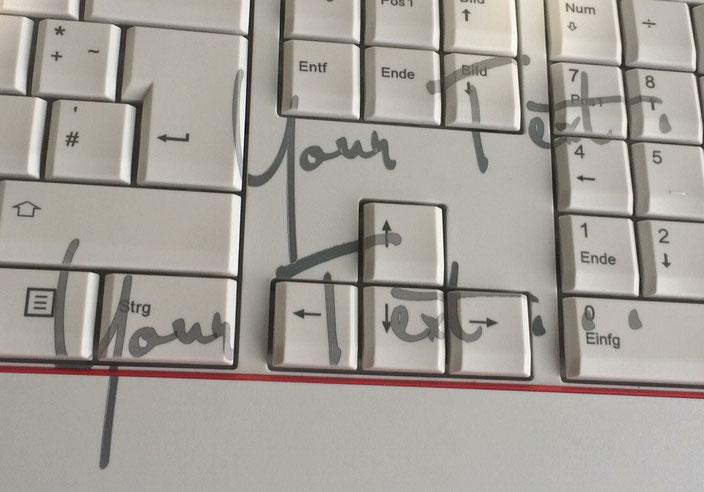 Laserbeschriftete Kunststoff Tastatur