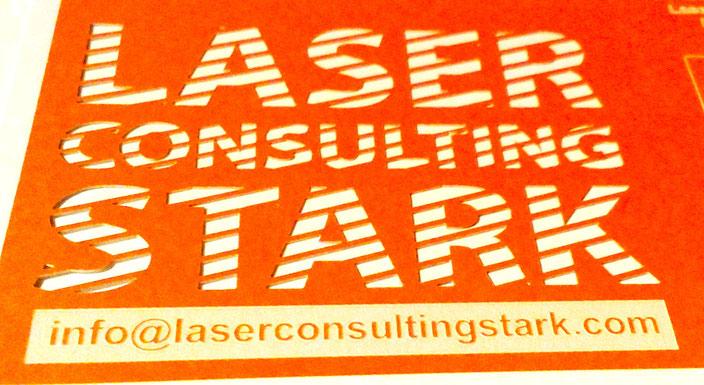 beidseitig sauberer Laserschnitt & negative Lasergravur