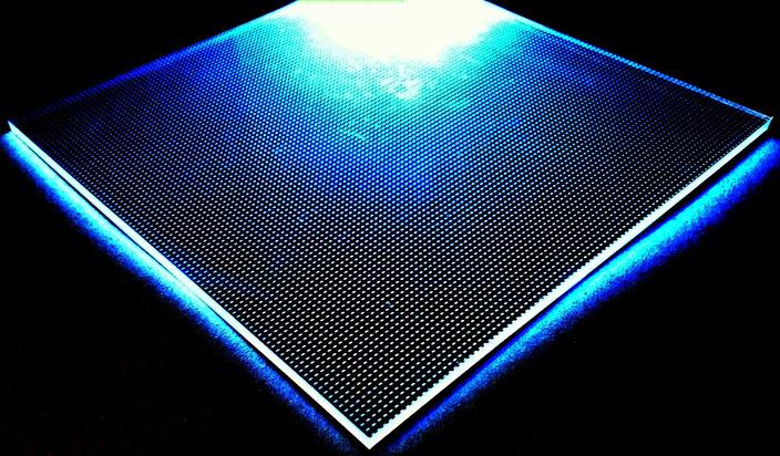 Light Panel, lasergraviertes Acryl als Lichteffekt 2