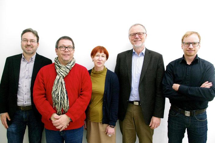 Vorstand (v.l.n.r.): Dr. Stephan Geiger, Michael Sturm (Vorsitzender), Rita Burster, Berni Fetzer (stellv. Vorsitzender), Dirk Supper