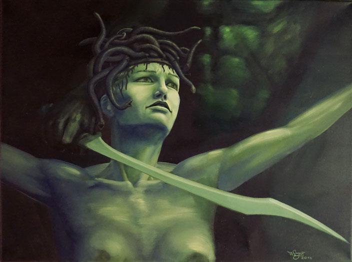 Medusa Perseus Sündenbock Passion politisches Opfer