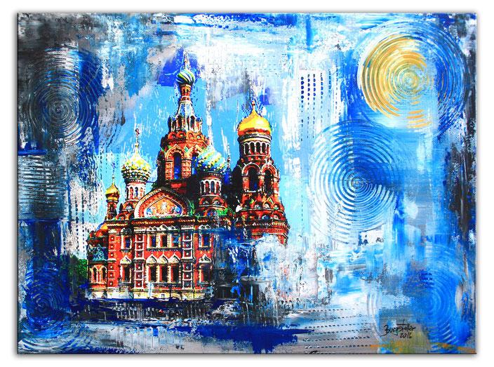 Sankt Petersburg Auferstehungskirche - Stadtbild, Stadtmalerei, Umdruck Gemälde