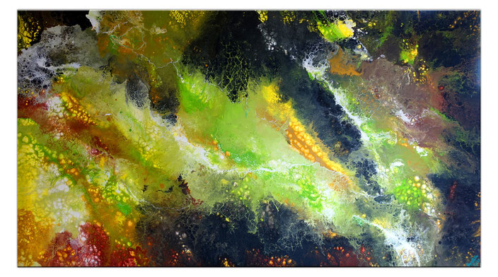 Borneo abstrakte Kunst Malerei Acrylbild handgemalt Unikat Einzelstück 80x140