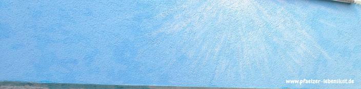 Hauswand Gemälde Himmel und Meer