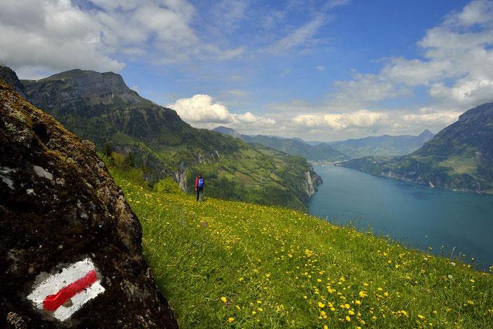 Weitwandern ohne Gepäck im Urnerland: Urner Seilbahnwanderung