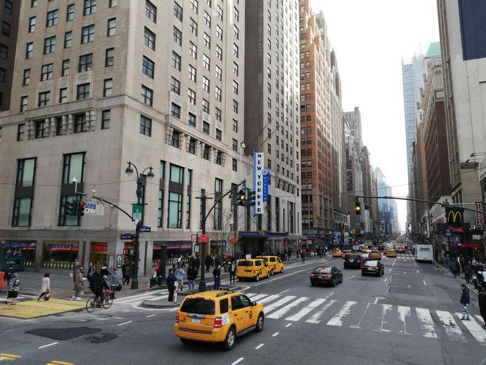 Drukke straat in New York City