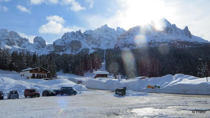 Parkplatz vom kleinen Skilift bzw. Ristorante la Baita