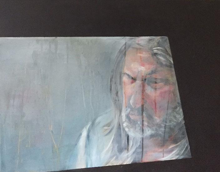 Ein Mann, Acryl auf Leinwand 50x70