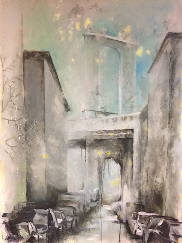 Dumbo, Öl und Acryl auf Leinwand 140x100